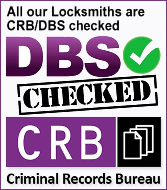 All our Locksmiths are CRB/DBS Approved