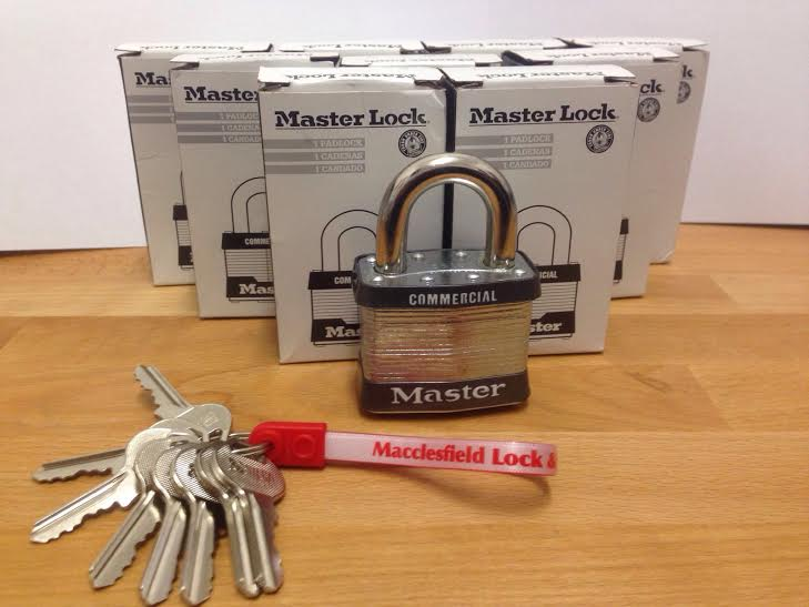 Master Padlocks keyed alike and supplied in Macclesfield