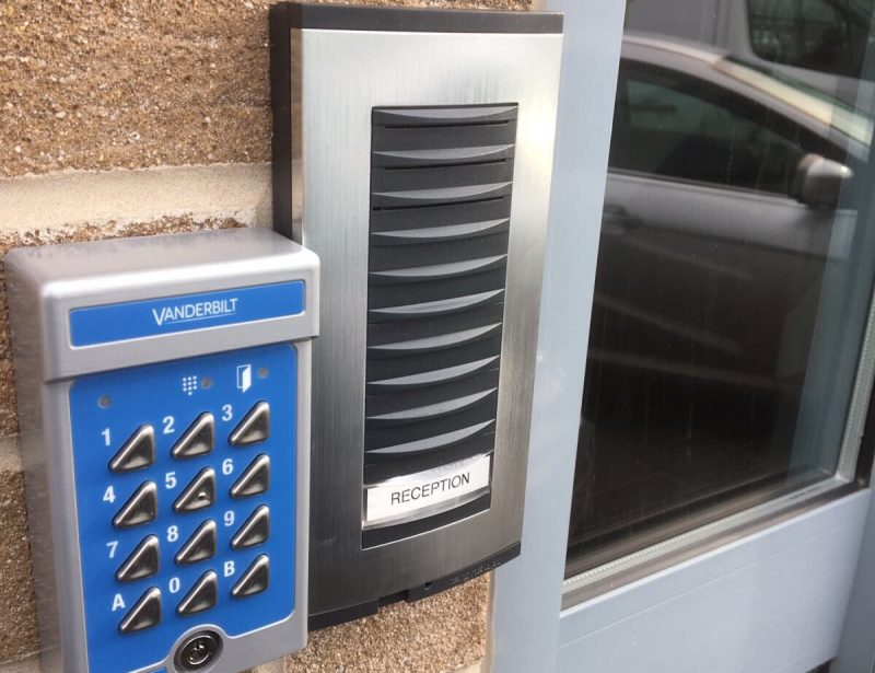 Access control installation on a UPVC door